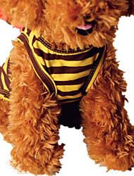 cheap -Dog Vest Dog Clothes Stripe Yellow Brown Stripe Down Terylene Costume For Pets Casual/Daily
