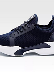 cheap -Men's Shoes Tulle Spring Fall Comfort Sneakers Walking Shoes Lace-up for Casual Black Navy Blue Grey