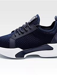 economico -Per uomo Scarpe Tulle Primavera Autunno Comoda Sneakers Footing Lacci per Casual Nero Blu marino Grigio