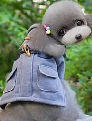abordables -Chien Manteaux Vêtements pour Chien Couleur Pleine Noir Gris Kaki Laineux Coton Duvet Costume Pour les animaux domestiques Homme Femme