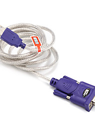 USB 2.0 Cavo adattatore, USB 2.0 to RS232 Cavo adattatore Maschio/maschio 1.5M (5 piedi)