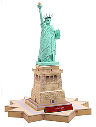 cheap -3D Puzzles Paper Model Square Famous buildings Architecture Statue Of Liberty DIY Hard Card Paper Boys' Unisex Gift