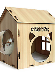Cat Dog Bed Pet Baskets Solid Breathable Massage Coffee Wood For Pets