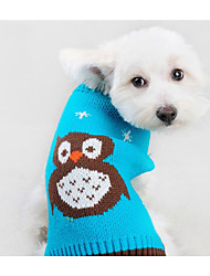 cheap -Cat Dog Sweater Dog Clothes Casual/Daily Cartoon Orange Blue Costume For Pets