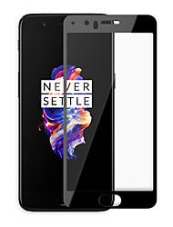 levne -Screen Protector pro OnePlus One Plus 5 Tvrzené sklo 1 ks Celkový kryt High Definition (HD) / 9H tvrdost / 2.5 D zaoblený okraj