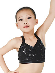 cheap -Jazz Tops Women's Children's Performance Lycra Paillette Sleeveless Natural Top