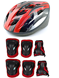 Adult Protective Gear Knee Pads + Elbow Pads + Wrist Pads Skate Helmet for Cycling Ice Skating Skateboarding Inline Skates Roller Skates