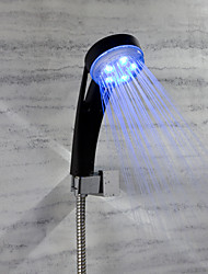 cheap -Rain Shower Feature for  Rainfall LED indicator  LED Shower Head Black Shower hand Temperature change