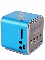 Portable Micro USB Mini Stereo Super Bass Speaker Music MP3 MP4 FM Radio TDV26 Inserted U Disk Card with Display
