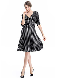 cheap -Women's Party Plus Size Daily Vintage A Line Dress