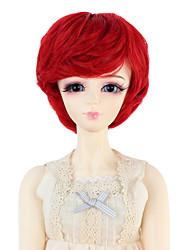 Mulher Perucas sintéticas Ondulado Vermelho boneca peruca Perucas para Fantasia