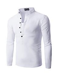abordables -Hombre Fin de semana Camiseta, Escote Redondo Un Color