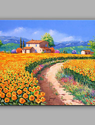 cheap -Large Size Hand-Painted Landscape Mediterranean One Panel Canvas Oil Painting For Home Decoration No Framed
