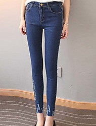 Women's High Waist strenchy Skinny Jeans Pants,Street chic Sexy Simple Skinny Solid