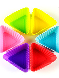 cheap -12pcs/lotMixed color Silicone Muffin Cup Cupcake Mold  Form Durable Jelly Soap DIY Bake Cake Pan Molds Bakeware Baking Pastry