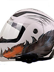 cheap -YOHE YH-936  Motorcycle Helmet  Bluetooth Helmet Comes With FM 800 Meters Intercom White Feathers By White Ord