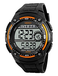 cheap -SKMEI Men's Sport Watch Digital Watch Digital Water Resistant / Water Proof Stopwatch PU Band Black