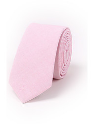 cheap -Men's Pure Color Narrow Version Of 6.5cm Casual Cotton And Linen Tie