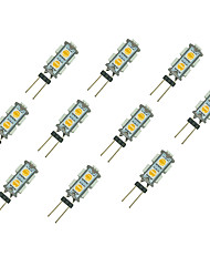 cheap -10pcs 1.5W 85lm G4 LED Bi-pin Lights 9 LED Beads SMD 5050 Warm White White 12V