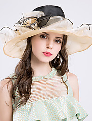 cheap -Silk Organza Hats Headpiece Wedding Party Elegant Feminine Style