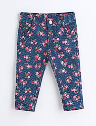 Mädchen Hose Blumen Druck Baumwolle Frühling Herbst