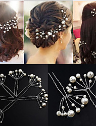 5pieces/set Exqusite Handmade Pearl Headpiece-Wedding Hair Pins Special Occasion Anniversary Housewarming Party/ Evening Hair Clip