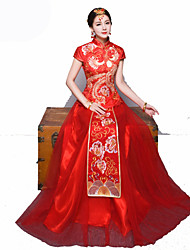 Cosplay Outfits Women's New Year Festival/Holiday Halloween Costumes Red Vintage Embroidered