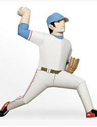 Недорогие -3D пазлы Мячи Бумажная модель Детский бейсбол Игрушки Квадратный Гольф 3D Своими руками Плотная бумага Не указано Куски