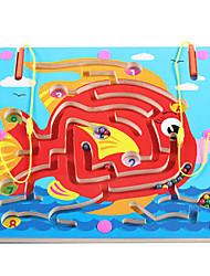 economico -Scacchi Puzzle Labirinto giocattolo Labirinti magnetici Giocattoli Aereo Prodotti per pesci A calamita Legno Ferro Per bambini 1 Pezzi