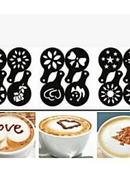 cheap -12PCS Plastic Fancy Coffee Making Printing Model Minimalist Design Dusting Pad