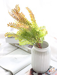 cheap -Artificial Flowers Feel Bracken Simulation Leaves Export Interior Wall Simulation Micro Landscape Flowers