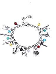 Lureme® Women's Charm Bracelet Jewelry Natural Friendship Rainbow Movie Jewelry Fashion Luxury DIY Alloy Circle Jewelry ForParty Dailywear