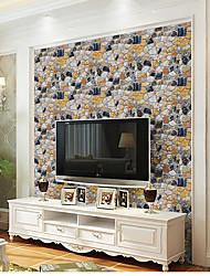 Artistico 3D Pietra Sfondo Per la casa Moderno Rivestimento pareti , PVC / Vinile Materiale Auto-adesivi sfondo , Carta da parati