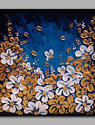 Недорогие -Ручная роспись Цветочные мотивы/ботанический Современный Высокое качество 1 панель Холст Hang-роспись маслом For Украшение дома