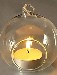 cheap -1Pcs Fashion Candle Holder Hanging Clear Globe Glass Terrarium Air Plant Decor