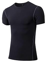 preiswerte -Herrn Laufshirt Kurzarm Fitness, Laufen & Yoga Rasche Trocknung Sport T-shirt Sweatshirt Oberteile für Rennen Radsport Übung & Fitness