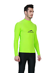 cheap -SBART Men's Shorty Wetsuit Chinlon Diving Suit Long Sleeves Diving Suits Top-Surfing/SUP Watersports Diving & Snorkeling All Seasons Print