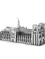 Недорогие -3D пазлы Пазлы Металлические пазлы Наборы для моделирования Башня Знаменитое здание Архитектура Эйфелева башня Железо Алюминий Металл