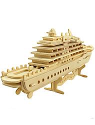 Недорогие -3D пазлы Пазлы Наборы для моделирования Корабль Своими руками моделирование деревянный Классика Детские Взрослые Универсальные Мальчики Девочки Игрушки Подарок / Деревянные игрушки