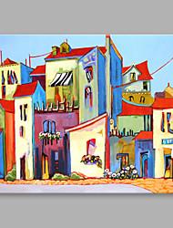 economico -Dipinta a mano Astratto Orizzontale,Astratto Un Pannello Tela Hang-Dipinto ad olio For Decorazioni per la casa
