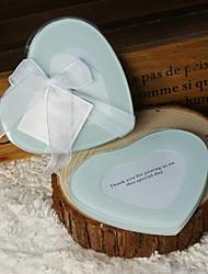 Coaster de vidro favores - 1 peça / conjunto de casamento casamento casamento favores