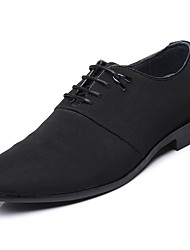 Men's Shoes Cowhide Spring Fall Comfort Gladiator Light Soles Oxfords Lace-up For Casual Party & Evening Office & Career Black