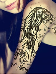 Temporary Tattoos Leg Arm Animal Series 3D Waterproof Tattoos Stickers Non Toxic Glitter Large Fake Tattoo Body Jewelry  Halloween Gift 22*15cm