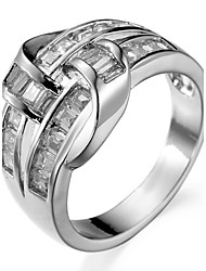 cheap -Ring Settings Ring Luxury Zircon Geometric 2 Colors  Women's Rhinestone Cute Style Movie Jewelry Euramerican Fashion Daily Party