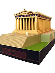 Недорогие -3D пазлы Бумажная модель Квадратный Знаменитое здание Архитектура Своими руками Плотная бумага Все возрастные группы