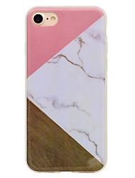 Per iPhone 8 iPhone 8 Plus Custodie cover IMD Fantasia/disegno Custodia posteriore Custodia Simil-legno Effetto marmo Morbido TPU per