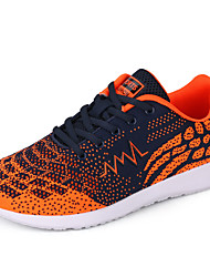 cheap -Men's Sneakers Comfort Spring Fall Knit Casual Outdoor Lace-up Flat Heel Silver Orange Blue 3in-3 3/4in