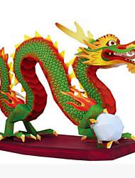 abordables -Puzzles 3D Loisirs Créatifs en Papier Rond Articles d'ameublement A Faire Soi-Même Style Chinois Unisexe Cadeau