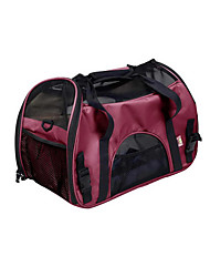 cheap -Cat Dog Carrier & Travel Backpack Shoulder Bag Pet Carrier Waterproof Portable Breathable Solid Purple Red