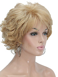 cheap -New Arrival Women's Short Straight Layered Synthetic Hair Wig blonde hair Wig